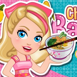 barbie dress up makeup and hairstyle and cooking games mugeek